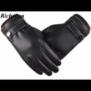Men's Genuine Leather Gloves w/touchscreen ability